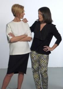 Elena Biurrum y Rosa Díez