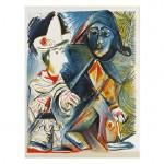 Arlequin y payaso de Picasso