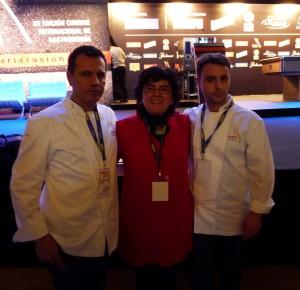 Oriol Castro, Silvia Castillo y Eduard Xatruch
