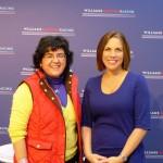 Claire Williams y Silvia Castillo