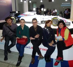 periodistas españoles en el evento
