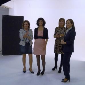 Purificación Pujol, Pilar Eyre, Paloma Barrientos y Yolanda García Serrano
