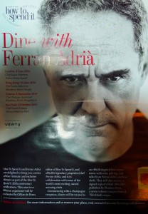 Financial Times Dine with Ferran Adrià 20th aniversary