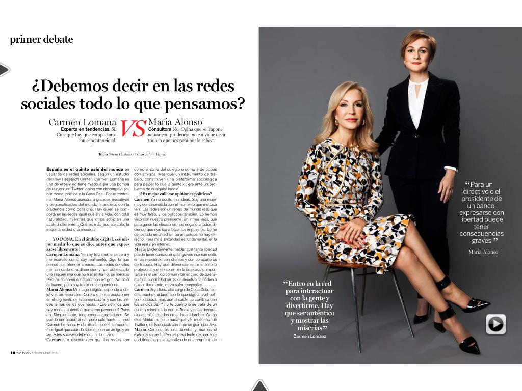 Carmen Lomana y María Alonso Yo Dona