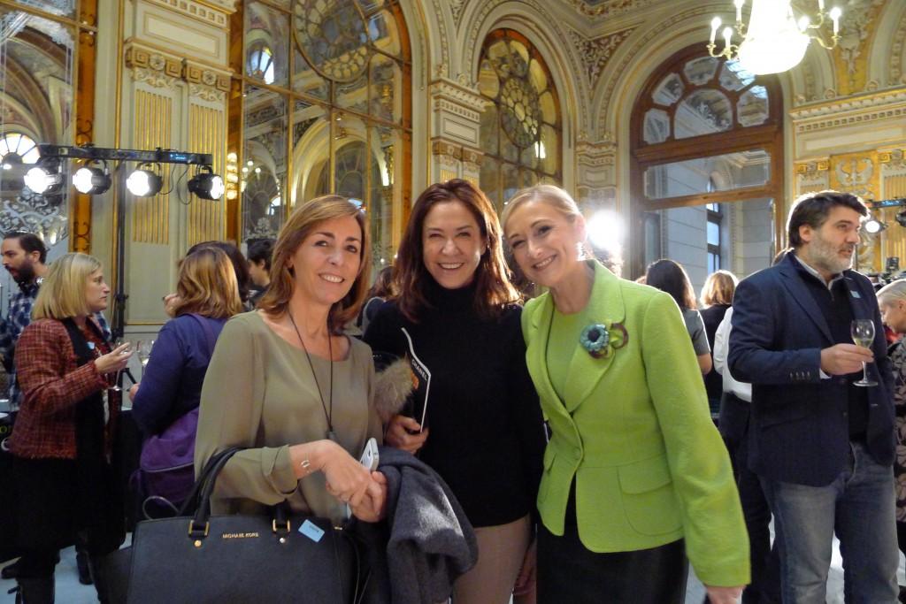 Koro Castellano, Marisa González Casado y Cristina Cifuentes
