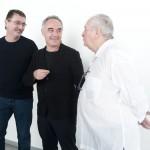 Andoni Luis Adurz, Ferran Adrià y Juan Mari Arzak