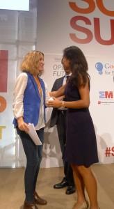Sofía Benjumea y Mary Grove de Google
