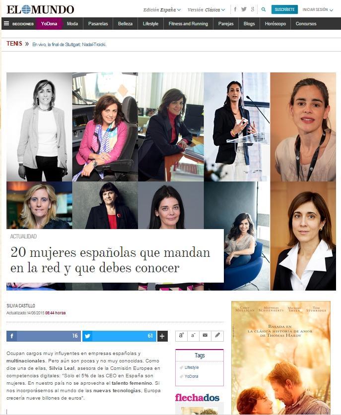 20 mujeres españolas que mandan en la red