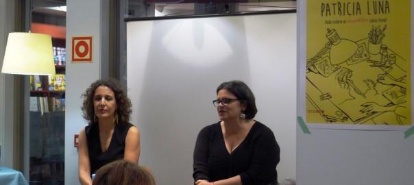Isabel Gaarzía Zarza y Silvia Oviano portada en la presentación del libro