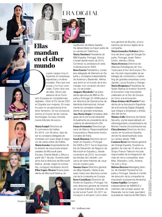Mujeres lideres digitales España