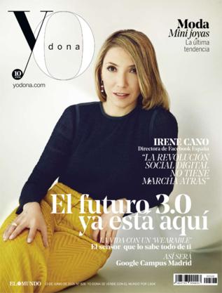 Irene Cano en la portada de Yo Dona
